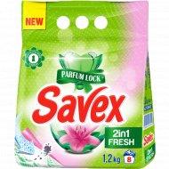 Средство моющее «Savex» 2 in 1 Fresh для машинной стирки, 1.2 кг.