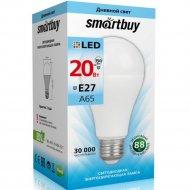 Светодиодная лампа «Smartbuy» A65, 20W, 4000K, E27, дневной белый свет