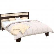 Кровать «Империал» Эшли 160, каркас, Венге/Дуб сонома