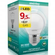 Светодиодная лампа «Smartbuy» G45-9,5W 3000 E27, теплый белый свет.