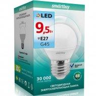 Светодиодная лампа «Smartbuy» G45-9,5W 4000 E27, дневной белый свет.