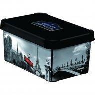 Коробка «Curver» deco stockholm s, 205491, париж, 6 л, 295x195x135 мм.