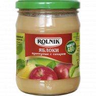 Яблоки протертые «Rolnik» с сахаром, 480 г.