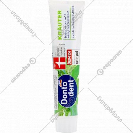 Зубная паста «Dontodent» лечебные травы, 125 мл.