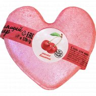Соль для ванн «Спелая вишенка»бурлящий шар сердечко, 120 г