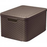 Корзина «Curver» style box l v2 lid, 205861, 445x330x248 мм.