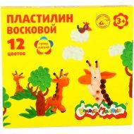 Пластилин восковой «Каляка-Маляка» ПВКМ12, 12 цветов.