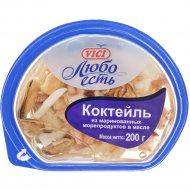Коктейль из морепродуктов «VICI» в масле, 200 г