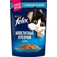 Корм для кошек «Felix» с форелью, 85 г.