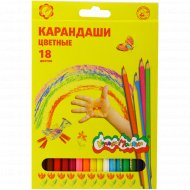 Набор цветных карандашей «Каляка-Маляка» шестигранные, 18 цветов.