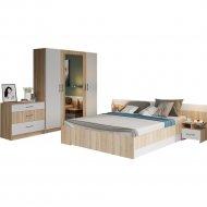 Комплект мебели в спальню «Империал» Алена, 4-х дверный шкаф, Дуб сонома/Белый