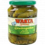 Огурцы консервированные «Wasta» отборные 6-9 см, 670 г.