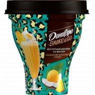 Коктейль йогуртный «Даниссимо» ананасово-кокосовый сорбет 5.2%, 260 г.