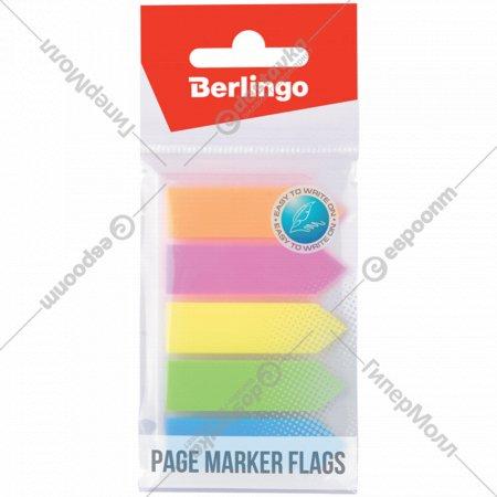 Закладки-флажки самоклеящиеся «Berlingo» пластиковые, 44х12 мм.