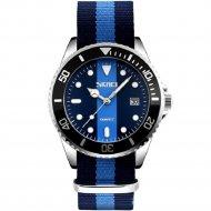 Наручные часы «Skmei» 9133, с синей полосой