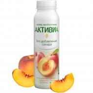 Биойогурт без сахара «Активиа» яблоко-персик, 2%, 260 г.