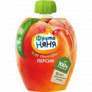 Пюре «ФрутоНяня» для детского питания персиковое, натуральное, 90 г.