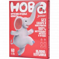 Конфеты фруктово-ягодные «Хоба» яблоко-клубника, 60 г.