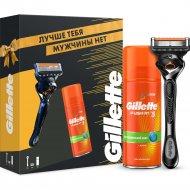 Подарочный набор «Gillette» Fusion, бритва и гель для бритья, 75 мл
