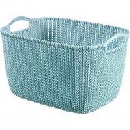 Корзинка «Knit» синяя, 38х30х23 см