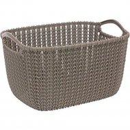 Корзинка «Knit» темно-коричневая, 40х30х23 см.