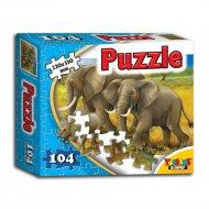 Пазл «Семья слонов» 104 элемента.
