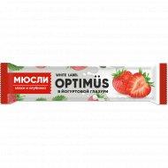 Батончик «Optimus» злаки, клубника, йогург, 30 г