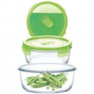 Контейнер «Purebox Active green» с пластмассовой крышкой, 670 мл.