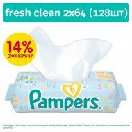 Влажные салфетки детские «Pampers» Baby Fresh Clean, 128 шт.