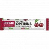 Батончик «Optimus» злаки, вишня, йогург, 30 г