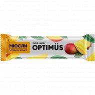 Батончик «Optimus» злаки и манго, 20 г