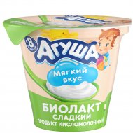 Напиток кисломолочный «Агуша» сладкий, 3.2%, 90 г