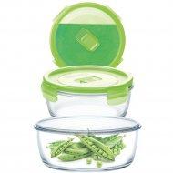 Контейнер «Purebox Active Neon green» с пластмассовой крышкой, 420 мл.