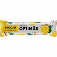 Батончик «Optimus» злаки, имбирь, лимон, 20 г