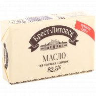 Масло сладкосливочное «Брест-Литовск» несоленое, 82.5%, 120г