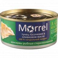 Консервы рыбные «Morrel» тунец в оливковом масле, 185 г.