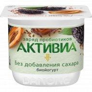 Биойогурт «Активиа» чернослив-финик-семена льна, 2.9%, 150 г.