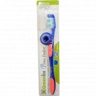 Зубная щетка «Greenice» Time Index средней жесткости.