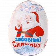 Шоколадная фигурка «Забавный сюрприз» яйцо с игрушкой, 20 г.