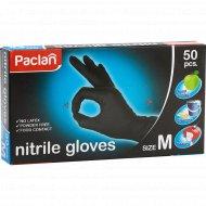 Перчатки нитриловые «Paclan» размер М, black 50 шт.