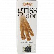 Хлебные палочки «Griss dior» c черными оливками, 100 г.