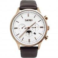 Наручные часы «Skmei» 9117CL, бело-золотые