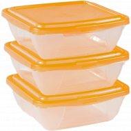 Комплект контейнеров для СВЧ и холодильника, 3штx0.5 л.