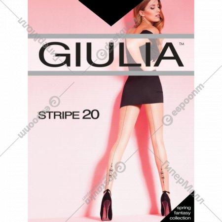 Колготки женские «Джулия» Stripe 20 (2), nero.
