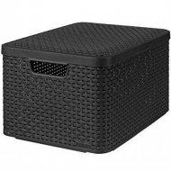 Корзина «Curver» style box l v2 lid, 205863, графит, 445x330x248 мм.