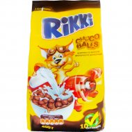 Сухие завтраки «Rikki» шарики со вкусом молочного шоколада, 400 г