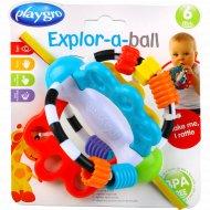 Развивающая игрушка «Мячик» с ленточками, пластиковый.