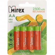 Комплект аккумуляторов «Mirex», HR6-25-E4, 4шт.