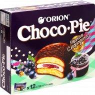 Печенье-бисквит «Чоко Пай Орион» черная cмородина, 12х30 г 360 г
