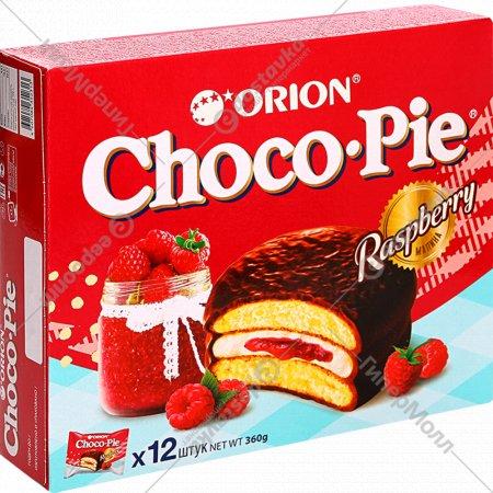 Печенье-бисквит «Чоко Пай Орион» малина, 12х30 г 360 г